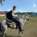 Me on a horse...